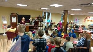 Mrs. Breaden at Baden Library